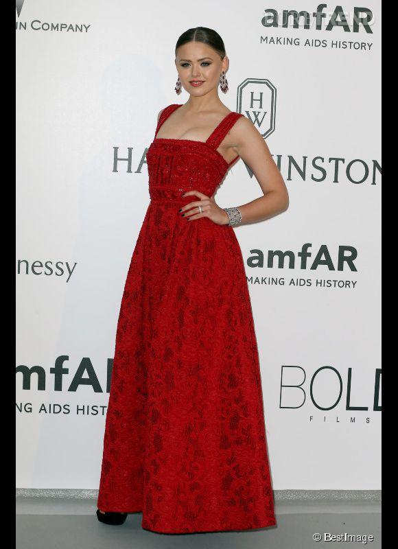 Kristina Bazan au 22ème gala de l'amfAR Cinema against AIDS le 21 mai 2015 à Cannes.