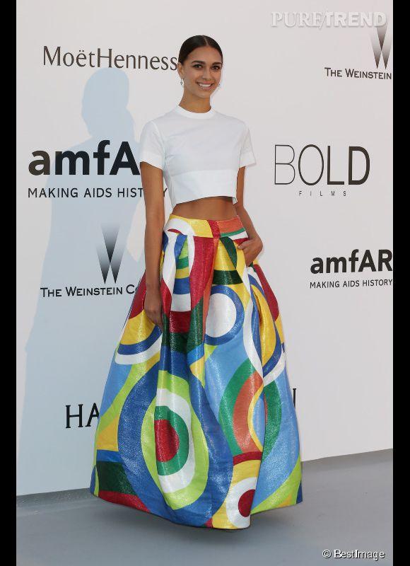 April Love Geary au 22ème gala de l'amfAR Cinema against AIDS le 21 mai 2015 à Cannes.
