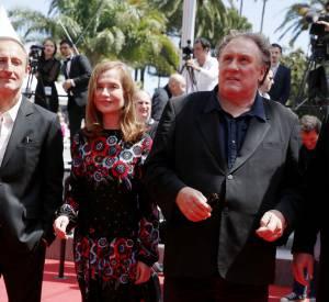 """Gérard Depardieu et Isabelle Hupert pour la montée des marches du """"Petit Prince"""""""