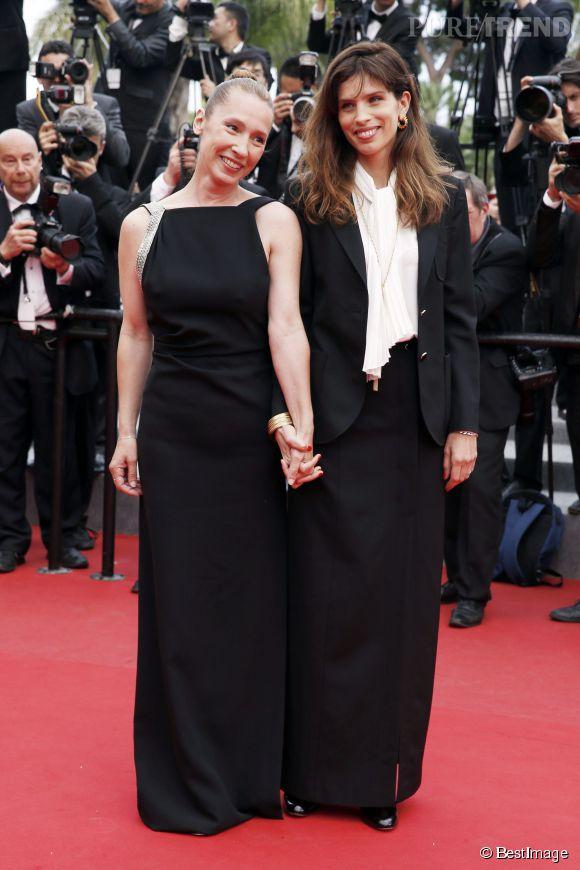 """Maïwenn a fièrement posé avec son actrice Emmanuelle Bercot, primée pour """"Mon roi"""", le nouveau film de la réalisatrice de """"Polisse""""."""