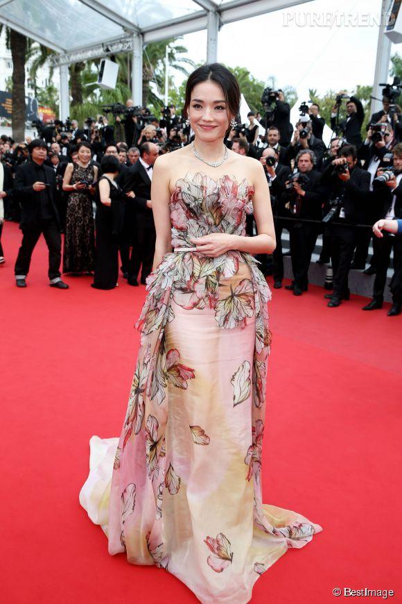 Shu Qi, lors de la cérémonie de clôture du 68ème Festival de Cannes. L'actrice taiwanaise et égérie Bulgari pour la Chine était parée par Bulgari.