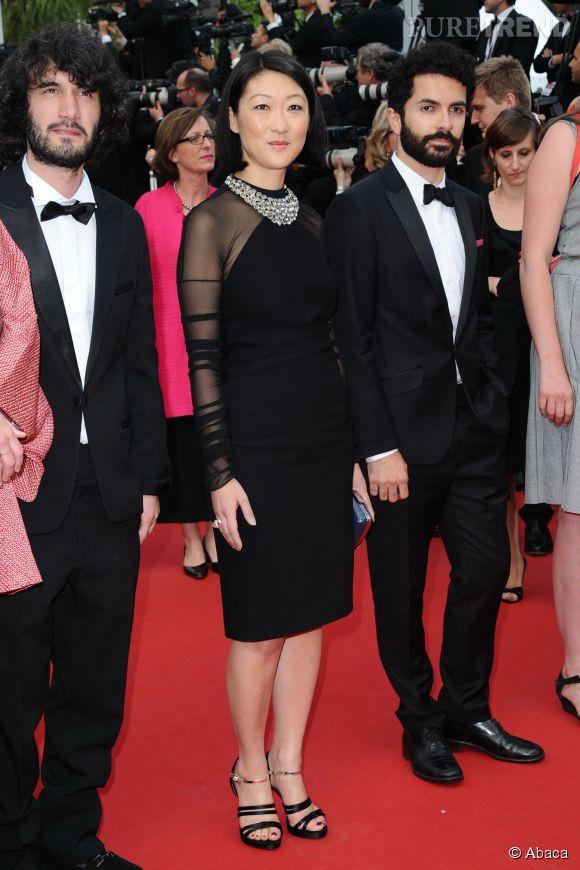 La ministre de la Culture, Fleur Pellerin, a elle aussi assisté à la dernière projection du 68ème festival de Cannes, ce 24 mai 2015.