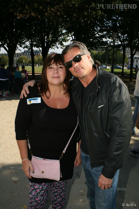 Michèle Bernier et son ex-compagnon Bruno Gaccio en 2014.