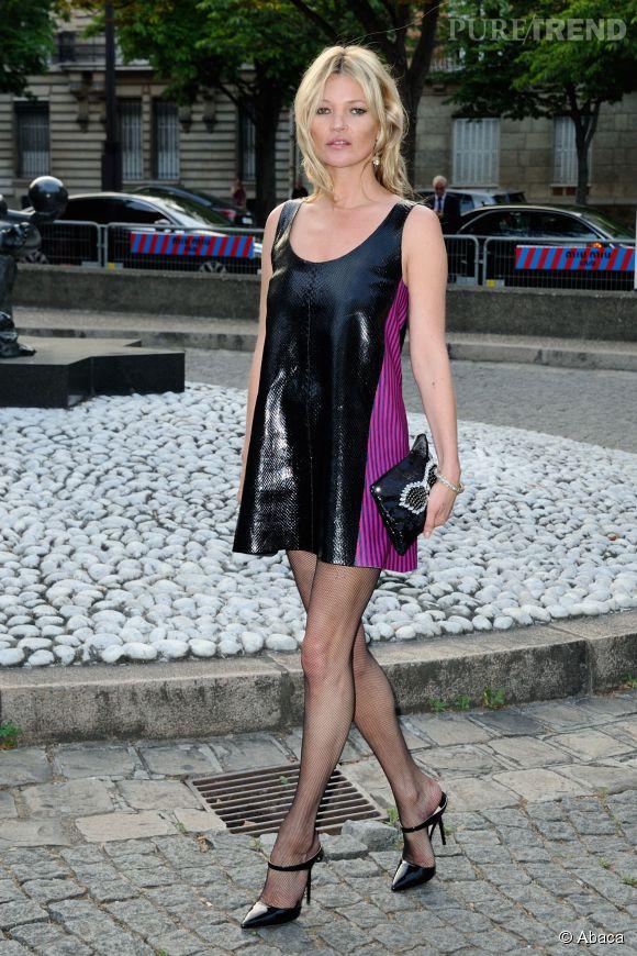 "Kate Moss au ""Miu Miu Club"" le 4 juillet 2015 à Paris."