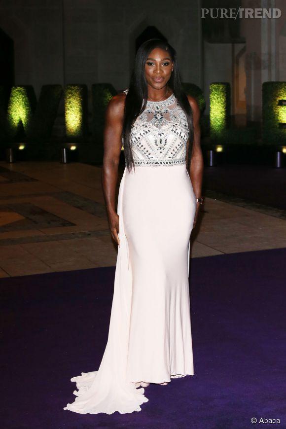 """Serena Williams, dimanche soir au """"dîner des champions"""" organisé en l'honneur des vainqueurs du tournoi de Wimbledon."""