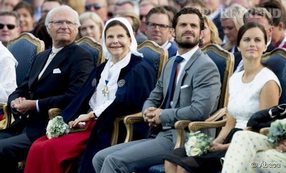 La princesse Sofia assiste à l'anniversaire de Victoria de Suède.