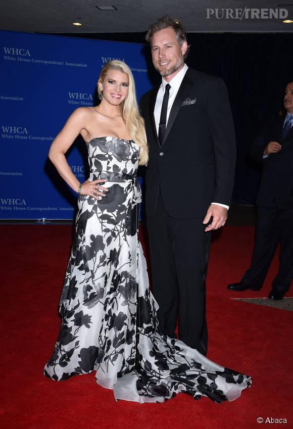 Jessica Simpson et son mari Eric Johnson.