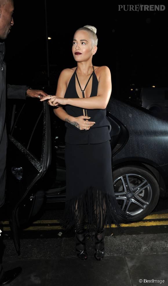 Rita Ora à la Summer Party de Sony le 14 juillet 2015 à Londres.