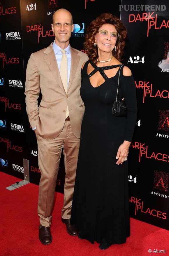 Sophia Loren et son fils, Edoardo Ponti.
