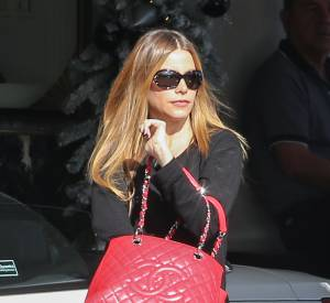 Sofia Vergara et le shopping bag de Chanel.