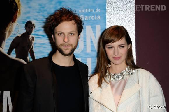 """Pierre Rochefort et Louise Bourgoin avec qui il partageait l'affiche dans le film """"Un beau dimanche""""."""