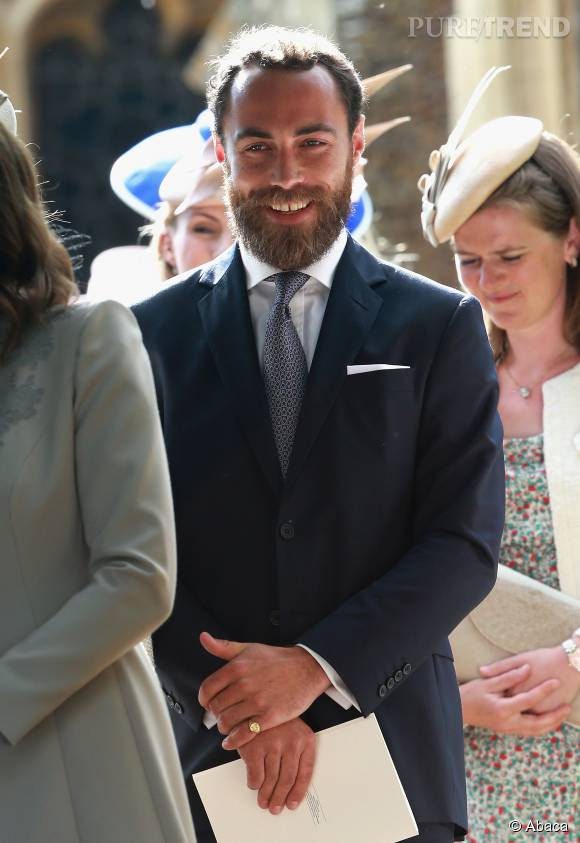 James Middleton, fier tonton au baptême de Charlotte.