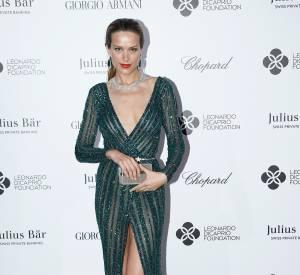 Petra Nemcova en Zuhair Murad au gala de la fondation de Leonardo DiCaprio, le 22 juillet 2015 à Saint-Tropez.