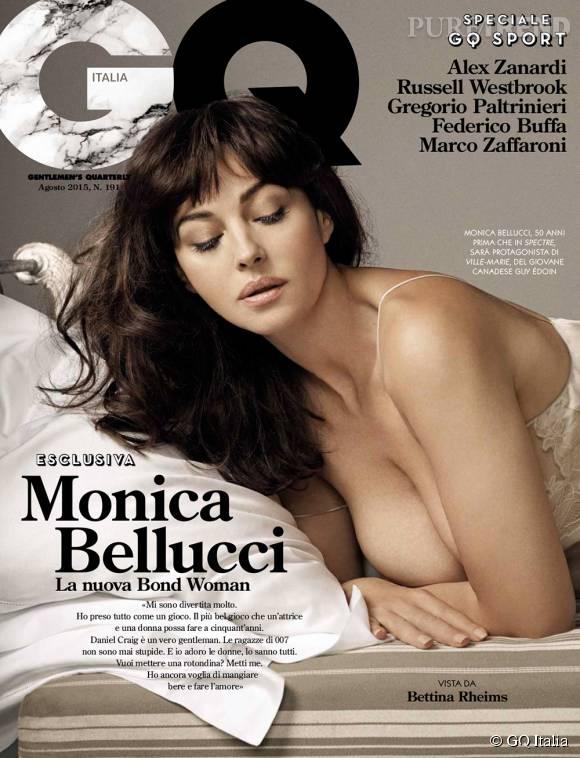 Monica Bellucci en couverture du numéro d'août du GQ Italien.