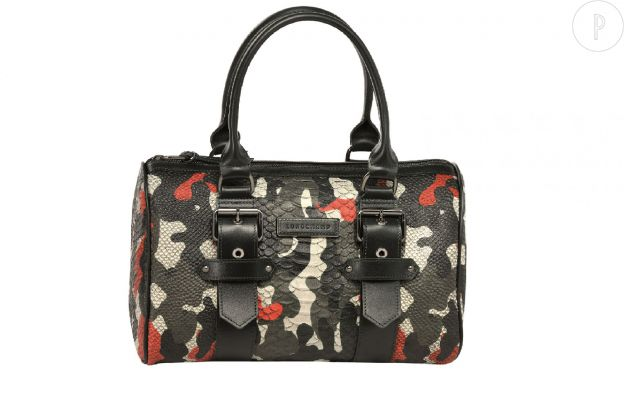 "Sac ""Gloucester Camouflage"" collection Kate Moss pour Longchamp, 630€."
