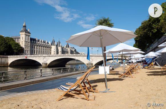 Paris Plages sur les berges de Seine, du 20 juillet au 23 août 2015.