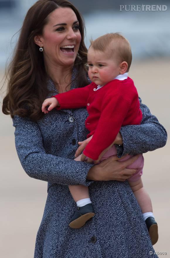 George et sa maman Kate Middleton. L'enfant aime aussi passer du temps avec sa grand-mère.