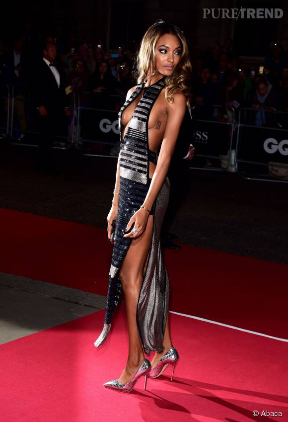 Jourdan Dunn en Sonia Rykiel aux GQ Men of the year awards le 8 septembre 2015.