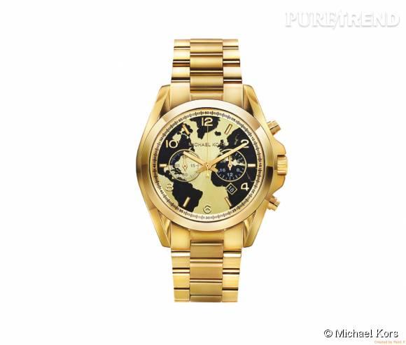 """La montre """"Bradshaw 100"""" de la collection Watch hunger stop de Michael Kors en acier, 299€."""