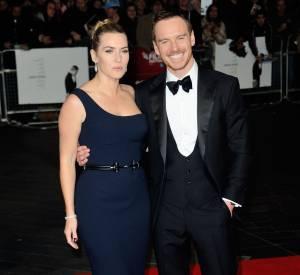 Michael aux côtés de sa partenaire Kate Winslet.