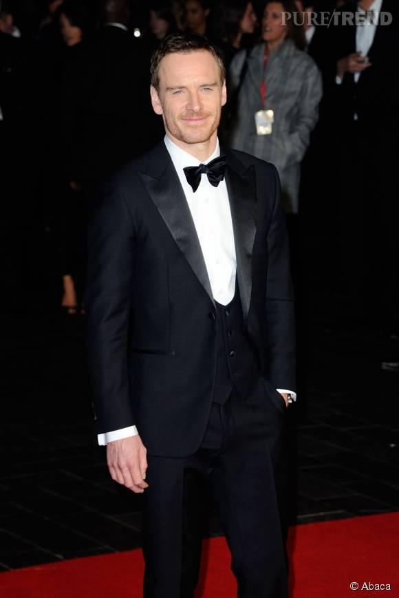 """Michael Fassbender lors de la première de """"Steve Jobs"""" à la cérémonie de clôture du BFI London Film Festival à Londres le 18 octobre 2015."""