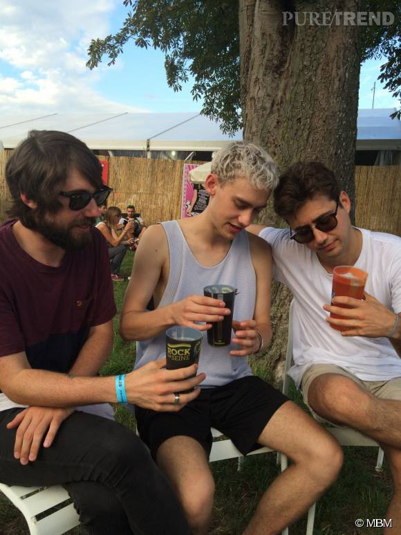 Years & Years (G-D : Mickey, Olly et Emre) à Rock en Seine en août 2015.