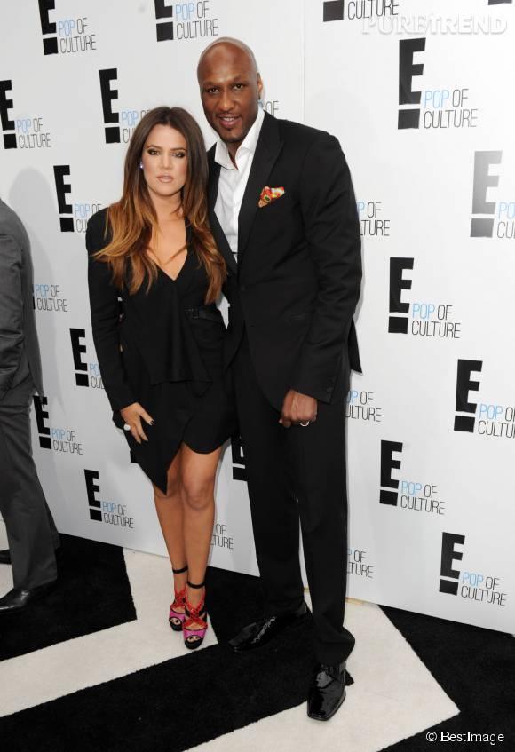 Khloe Kardashian et Lamar Odom au temps de l'amour. Aujourd'hui divorcés, ils restent soudés.