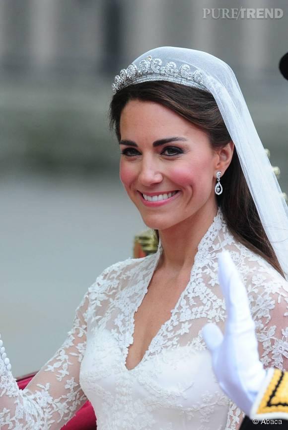 Kate Middleton lors de son mariage avec le prince William en 2011.