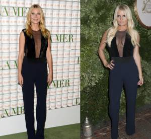 Gwyneth Paltrow vs Jessica Simpson : la combinaison décolletée jusqu'au nombril