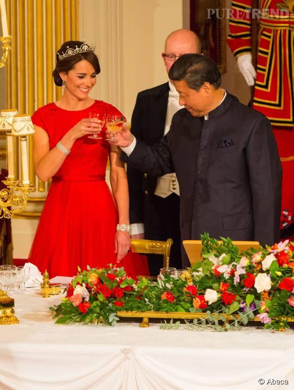 La sublime princesse s'est montrée aussi charmante qu'agréable avec le président chinois.