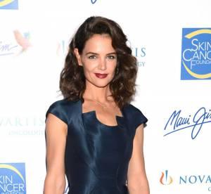 Katie Holmes : très amincie mais sublime dans une robe moulante bleue