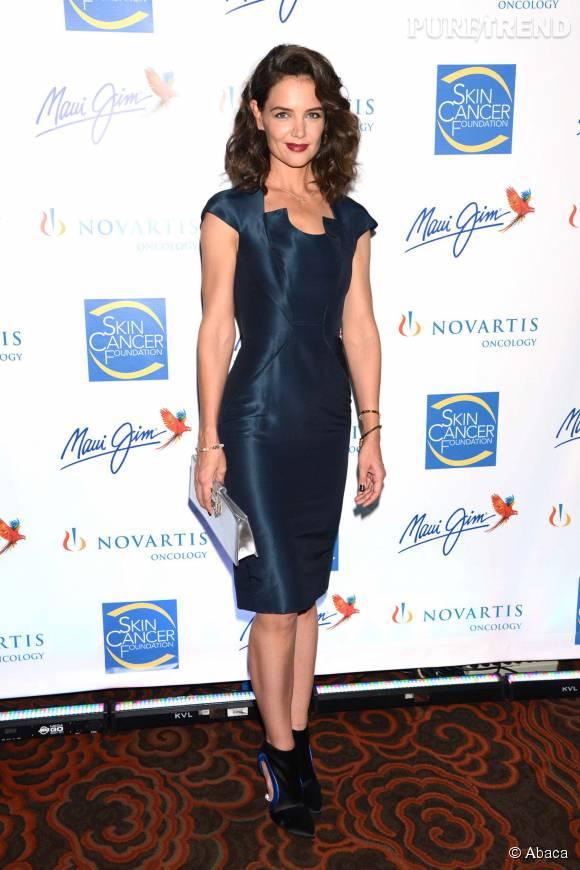 Katie Holmes était invitée au Skin Cancer Foundation Gala.