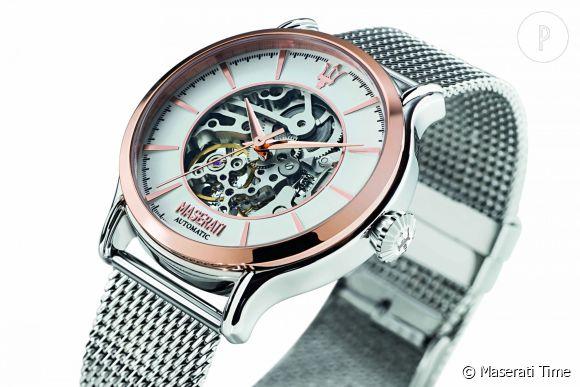 La nouvelle montre squelette de la collection Epoca de Maserati.