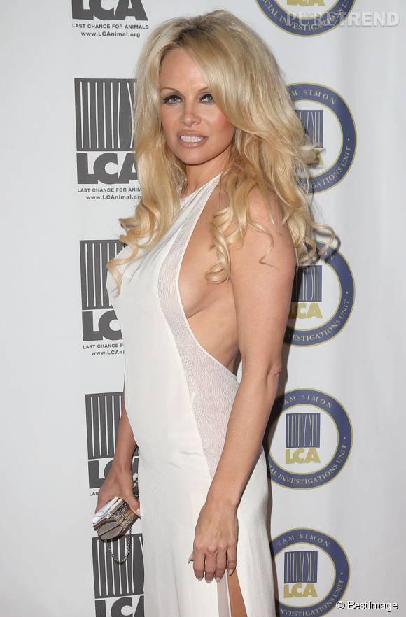 Pamela Anderson nous a dévoilé un side boob, à l'occasion d'un gala de charité ce week-end...