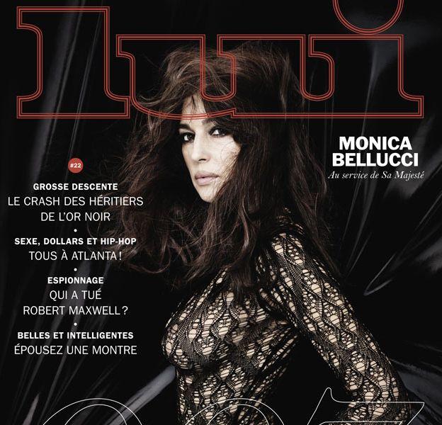 Monica Bellucci flirte avec la nudité en couverture de Lui.
