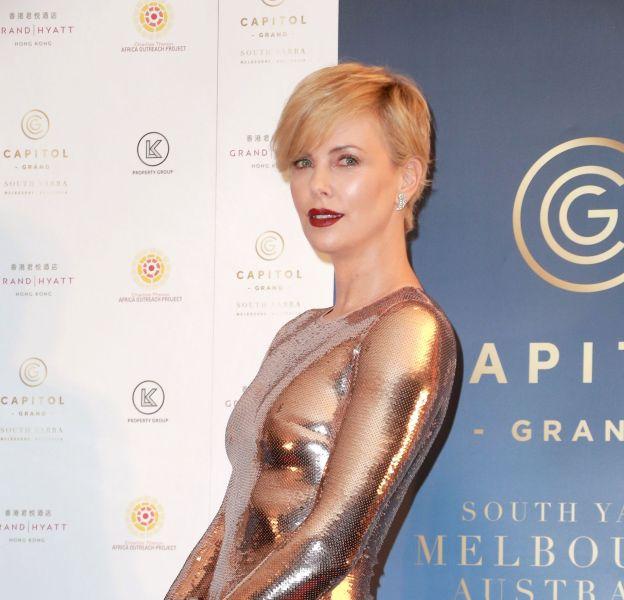 Charlize Theron à Hong Kong pour promouvoir un projet immobilier à Melbourne le 28 octobre 2015.