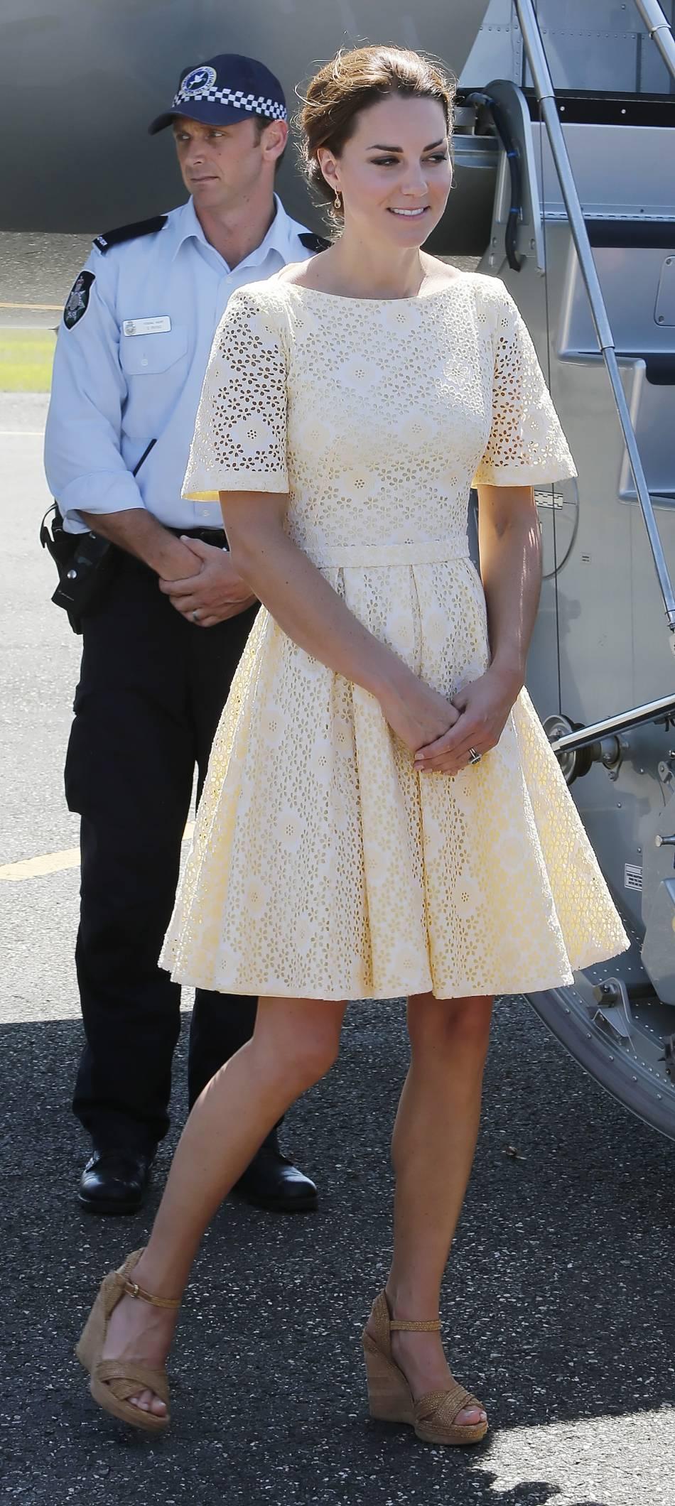 Kate Middleton aime aussi les jeux de transparence plus subtils.