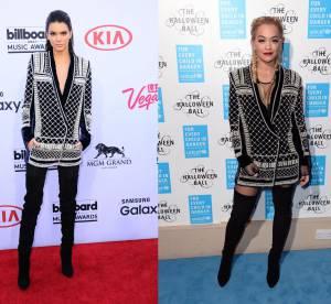 Kendall Jenner vs Rita Ora : le blazer à perles Balmain x H&M