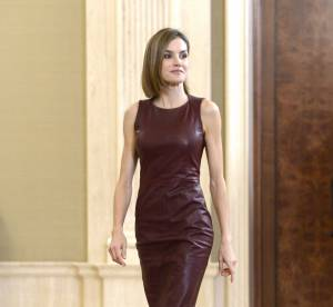Letizia d'Espagne : sexy dans une robe en cuir moulante