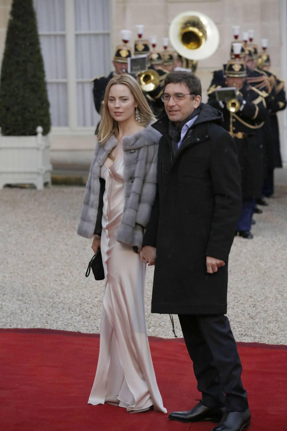Parmi les convives, l'actrice australienne Melissa George et son compagnon, Jean-David Blanc (fondateur d' Allociné ).