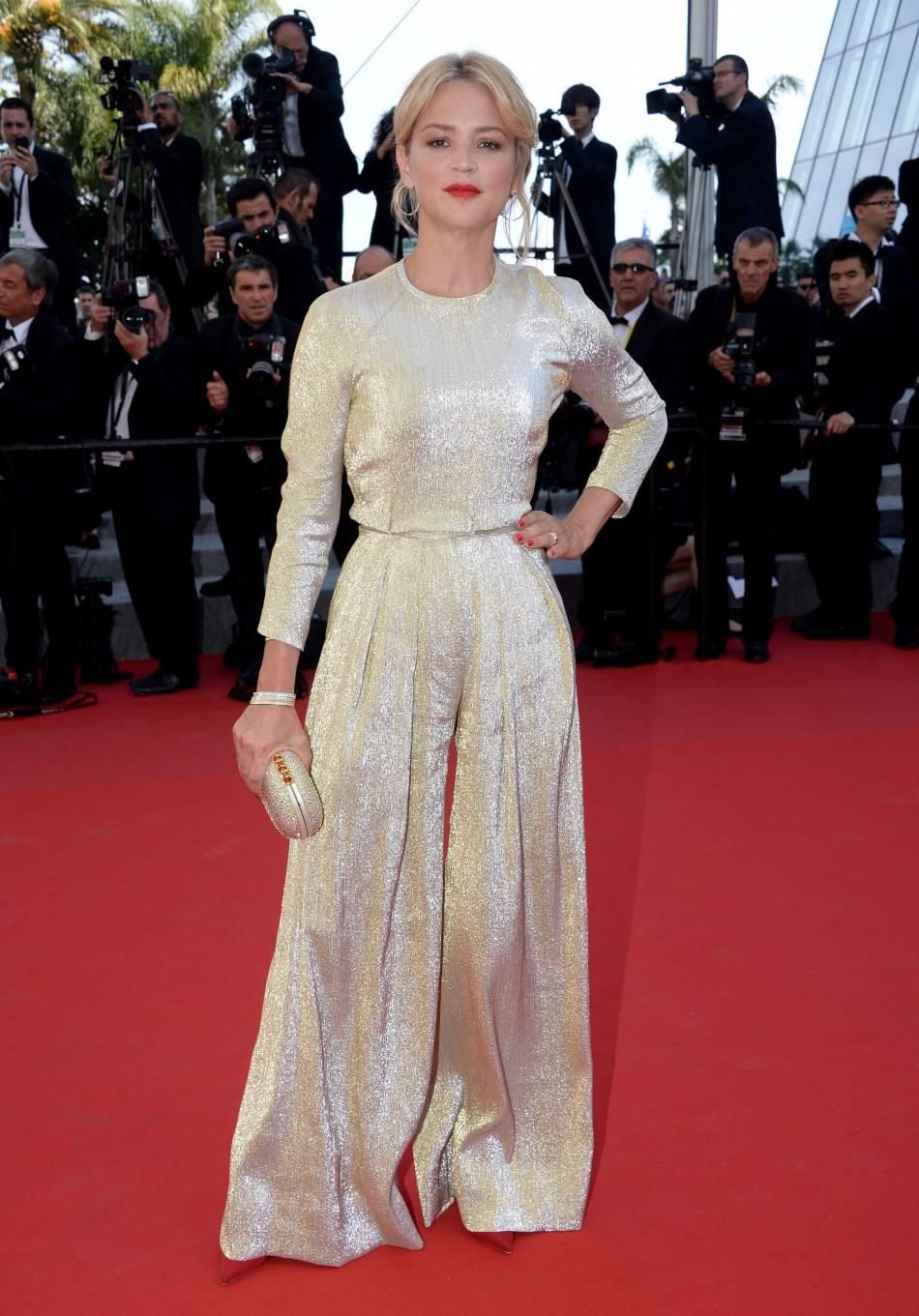 Virginie Efira était renversante dans une combi flare lors du festival de Cannes, en 2015.