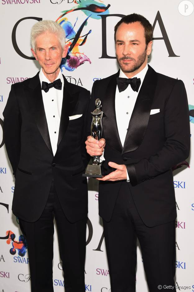 Tom Ford et Richard Buckley lors des CFDA fashion awards 2014.
