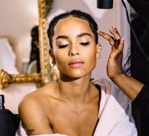 Séance de make up par YSL avant le début du gala du MET Ball.