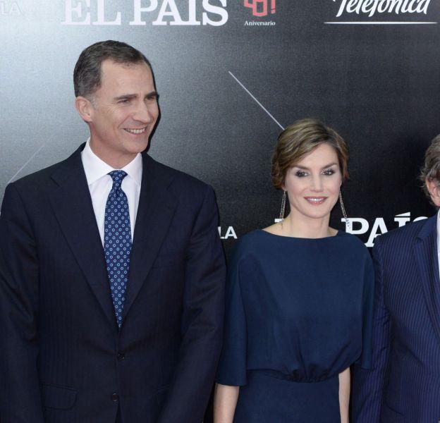 Letizia Ortiz et le roi Felipe VI ce jeudi 5 mai à Madrid à l'occasion de la remise du prix Ortega y Gasset jounalim.