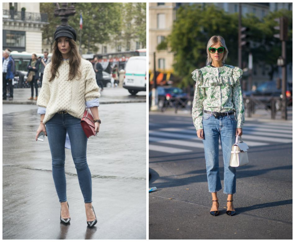 Street style des jeans de la saison : slim Vs jean mom 7/8