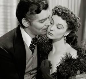 """Vivien Leigh dans sa robe rouge brillant de cristaux Swarovski dans """"Autant en emporte le vent"""" en 1939."""