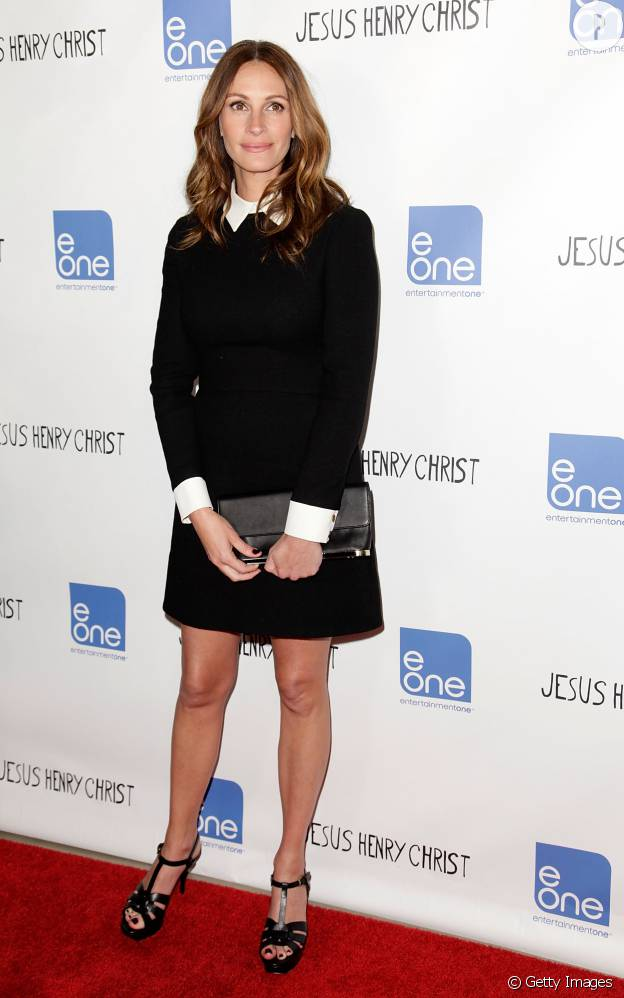 """Julia Roberts en Victoria Beckham à la première californienne de """"Jesus Henry Christ"""" en 2012."""