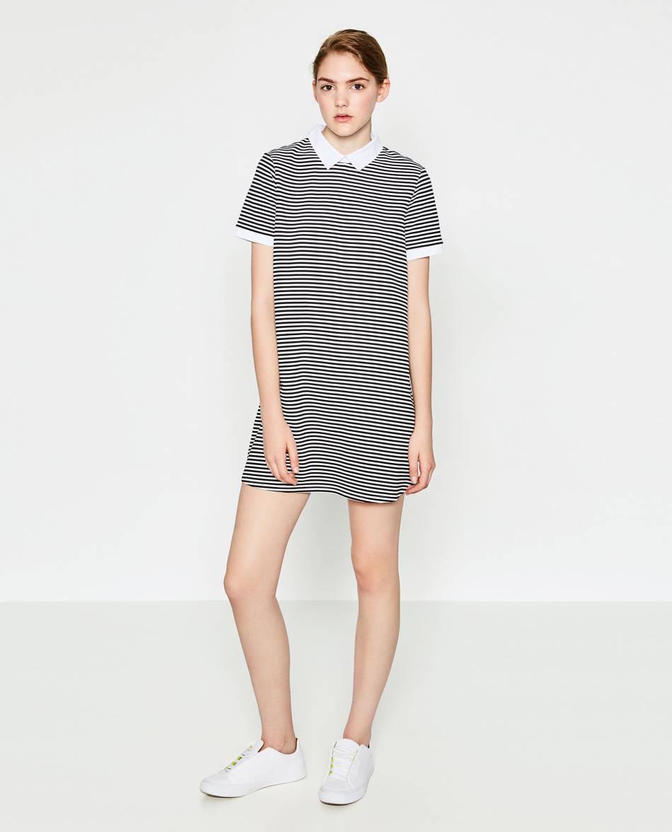 Robe polo rayée, Zara, 17,95€.