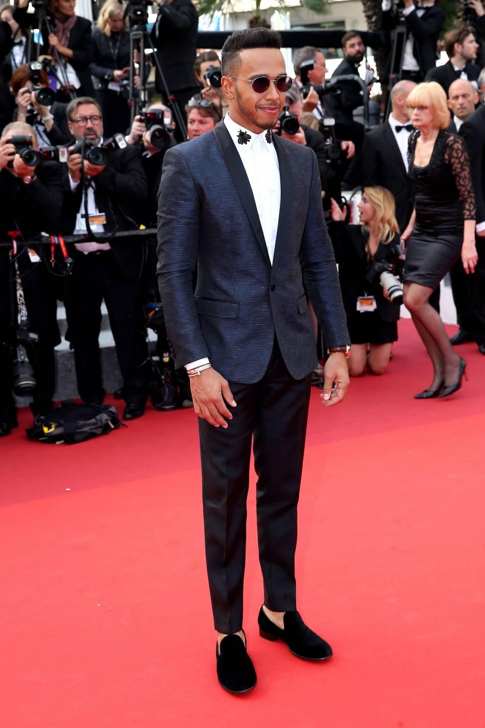 Cannes 2016 : Lewis Hamilton était lui aussi sur le tapis rouge le 18 mai 2016.