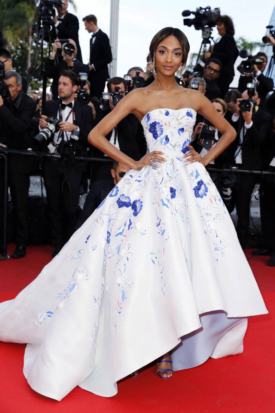 Cannes 2016 : Jourdan Dunn, princesse du tapis rouge en Ralph & Russo Couture printemps-été 2016.